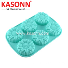 6 Cups Large Sunflower Silicone Baking Mold Pan